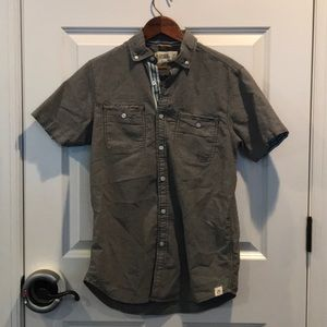 Free People Men's S/Sleeve Button Down Shirt Sz S